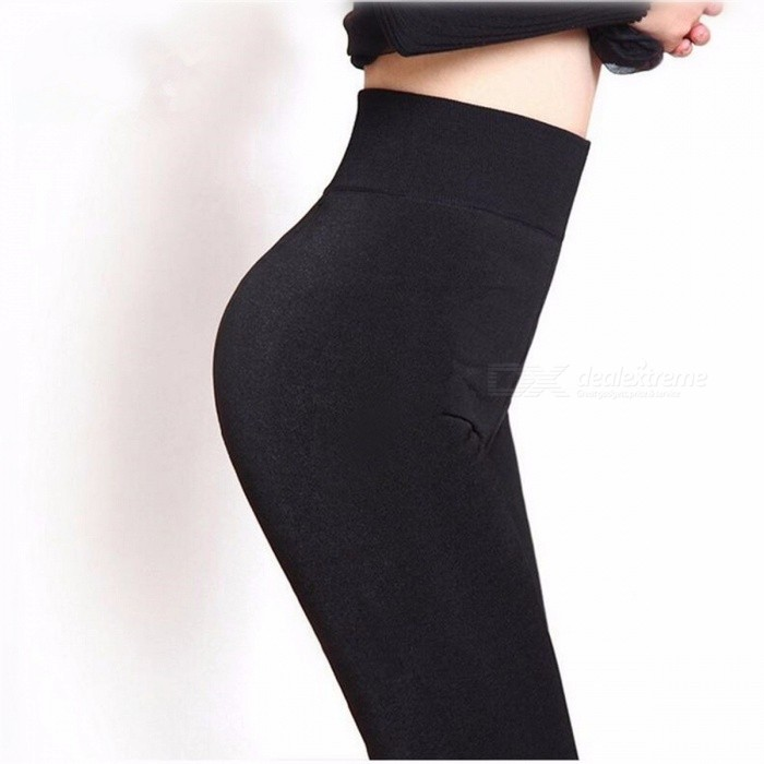 Women's Fashion Autumn Winter Cashmere Tights Leggings High Quality Knitted Velvet Tights Elastic Slim Warm Thick Tights