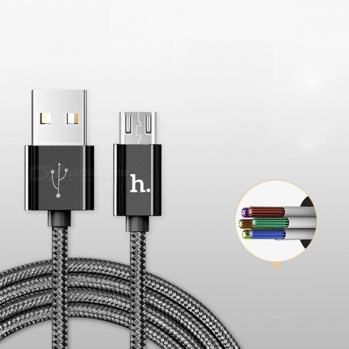 HOCO Metal Charging Data Cable Nylon Wire Charger for Lightning iPhone iPad Micro USB Type C for Samsung Xiaomi 3in1 Cord 2in1