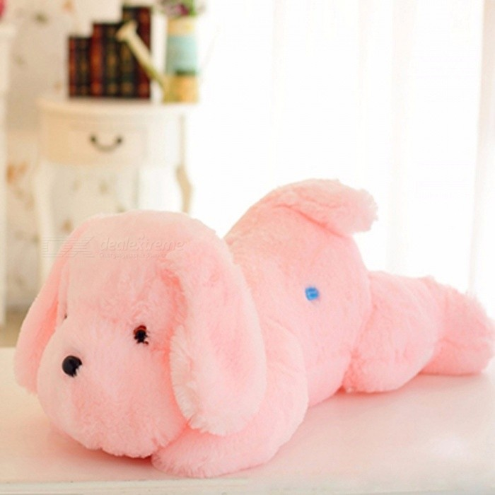 WJ445 Portable Cute 50cm Luminous Dog Plush Doll, Colorful LED Glowing Toy for Children Girls, Kids Birthday Gift