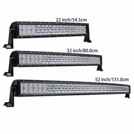 5D 200W 300W 400W 500W 22 32 42 52 Inches Curved LED Work Light Bar for Tractor Boat OffRoad 4WD 4x4 Car Truck SUV ATV 200W No Wire Kit