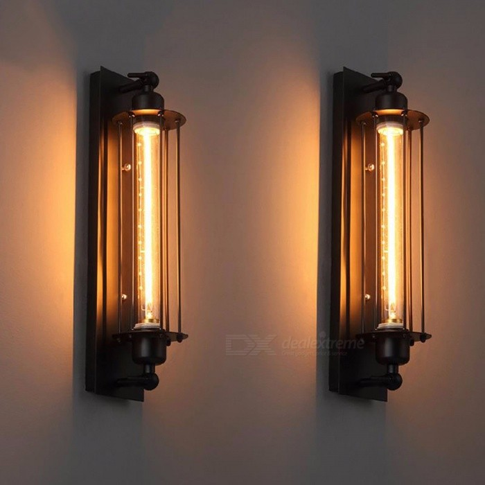 r tro vintage antique fer tuyau mur lampe pour couloir salle de bain bar luminaire applique mur. Black Bedroom Furniture Sets. Home Design Ideas