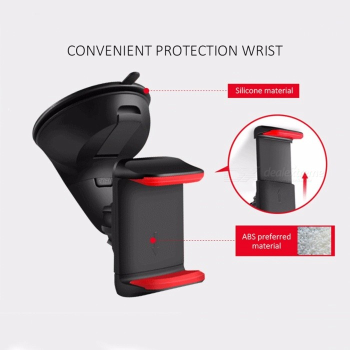 Universal Car Auto Phone Holder Windshield Mount Support Stand for for Mobile Phone Cell Phone Smartphone Black + grayMounts &amp; Holders<br>DescriptionBrand Name: ESVNECompatible Brand: UniversalUse: CarMagnetic: NoCharger: NoMaterial: ABSHas Speaker: No<br>