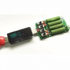 Industrial Battery Capacity Tester USBDC Electronic Load High Power Discharge Resistance Resistor Adjustable 4 Kind Current green
