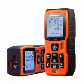 LOMVUM Portable Battery Powered Laser Rangefinder Range Finder, Digital Laser Distance Meter, Tape Sistance Measurer 120m/orange