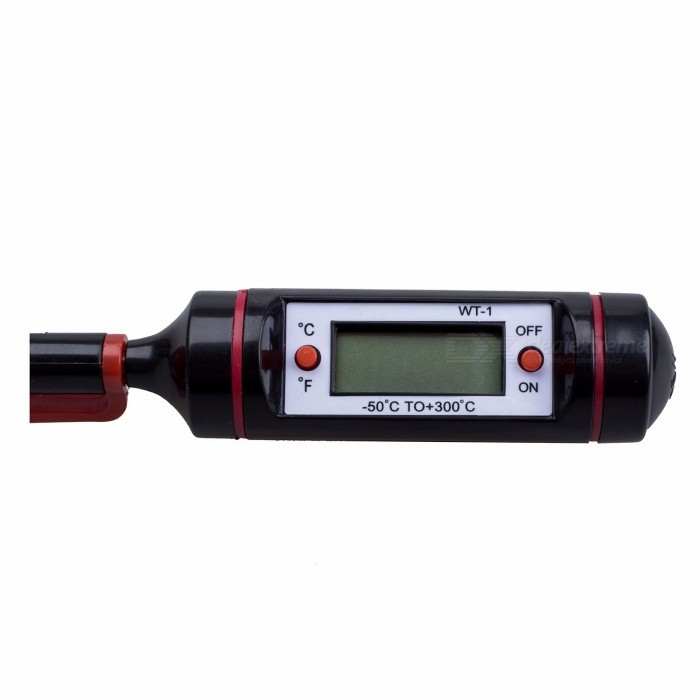 WSFS Portable Digital Kitchen Probe Thermometer with LCD Display for Food Cooking BBQ Meat Steak Turkey Wine