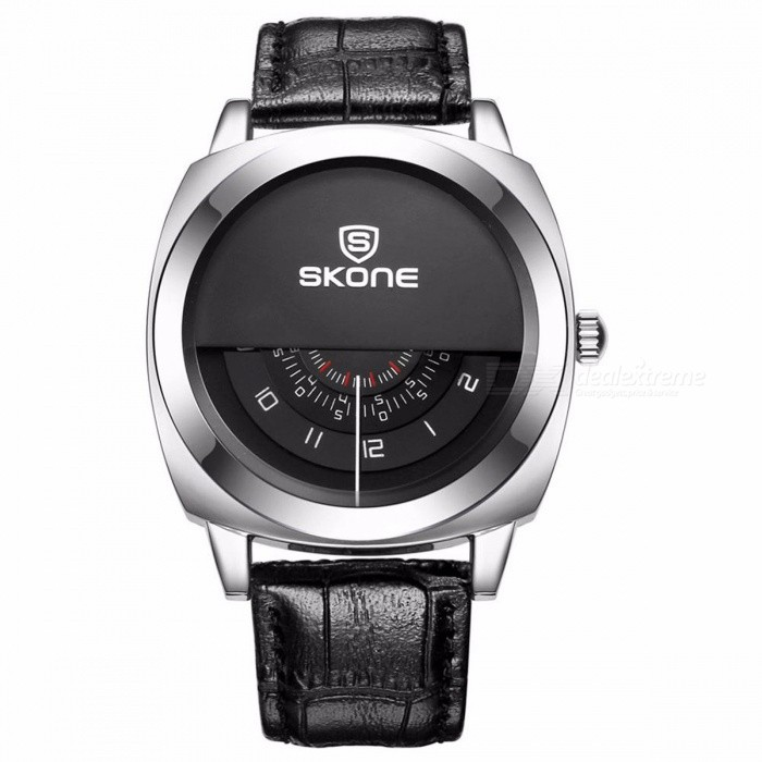 SKONE Casual Genuine Men &amp; Women Brand Wristwatches Special Design Military Leather Sports Watch Relogio Masculino Men BlackQuartz Watches<br>DescriptionItem Type: Quartz WristwatchesFeature: Water Resistant,Shock ResistantWater Resistance Depth: 3BarDial Window Material Type: HardlexCase Material: AlloyMovement: QuartzCase Shape: RoundClasp Type: BuckleGender: MenBrand Name: SKONEBoxes &amp; Cases Material: PaperBand Material Type: LeatherStyle: Fashion &amp; Casual<br>