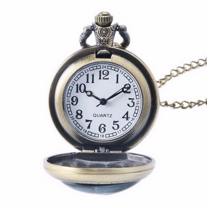Unique Chic Style Star Trek Theme Pocket Watch with Necklace Chain, High Quality Fob Watch for Men, Women