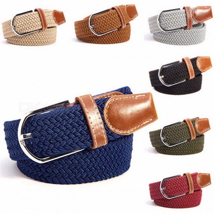 Fashion Chic Premium Unisex Canvas Plain Webbing Metal Spoon Woven Stretch Waist Belt for Men and Women BlackBelts and Buckles<br>Description<br><br><br><br><br>Item Type: Belts<br><br><br>Department Name: Adult<br><br><br><br><br>Pattern Type: Solid<br><br><br>Gender: Unisex<br><br><br><br><br>Style: Casual<br><br><br>Brand Name: oioninos<br><br><br><br><br>Belts Material: Canvas<br><br><br><br><br><br><br><br><br><br><br><br>Condition: 100% Brand New And High Quality<br> Material: &amp;nbsp;Canvas<br>Color: 31 Colors&amp;nbsp;<br>Belt Length: App 100-135cm/39-53<br>Belt Wide : app 3.5cm/1.35<br>Package Included:&amp;nbsp;1 Canvas Woven Belt &amp;nbsp; &amp;nbsp;&amp;nbsp; <br><br><br><br>Soft Elastic Fabric interwoven to stretch and to allow air cooling<br>Fashion, charming, sexy,cool.<br><br><br><br><br><br><br>Note:<br>1. Please allow 1-2CM differs due to manual measurement.<br>2.<br> Real color may slightly different from pictures due to many factors <br>such as computer screens resolution, brightness, contrast etc. Hope <br>understanding. Have a nice shopping day!<br>