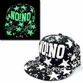 iMucci Graffiti Baseball Cap, Hip Hop Fluorescent Light Snapback Cap, Casquette Noctilucence Luminous Hat for Men Women Girl Boy blue face