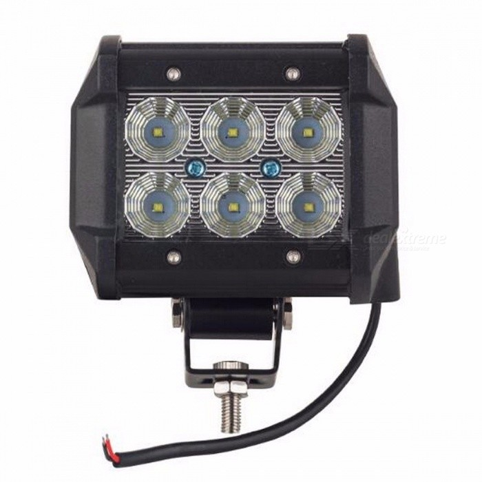 IP67 Waterproof Cree 18W 4 Inches Light Bar Work Lamp, Floodlight for 12V 4x4 Offroad ATV Truck Boat UTV FLOODOff-Road Lights<br>Description<br><br><br><br><br>Color Temperature: 6000K<br><br><br>Rows: Dual Row<br><br><br><br><br>Type: Light Bar<br><br><br>External Testing Certification: CE<br><br><br><br><br>Led Chip Manufacturer: Cree<br><br><br>Beam Angle: Flood<br><br><br><br><br>Ingress Protection: IP67<br><br><br>Shape: Straight<br><br><br><br><br>Position: Middle<br><br><br>Brand Name: JCBFARA<br><br><br><br><br><br><br><br><br><br><br><br><br><br>Specification: <br><br><br>Size:97*65*110mm <br><br><br>Operating Voltage: 10-30V DC <br><br><br>Waterproof rate: IP 67 <br><br><br>Beam Pattern: Spot /Flood&amp;nbsp;beam <br><br><br>Color Temperature: 6000K (pure white) <br><br><br>Material: Diecast aluminum housing <br><br><br>Lens material: PMMA lens <br><br><br>Mounting Bracket: Stainless Steel <br><br><br>Theoretical Lumens Output: 1600 LM <br><br><br>LED Power: 18W (6pcs*3w CREE <br>chip&amp;nbsp;high intensity LEDs,for extend life of LED,and having higher light <br>efficiency ,we use&amp;nbsp;&amp;nbsp;70% of LED power ) <br><br><br>&amp;nbsp;<br><br><br>Features: <br><br><br>LED chips from US. <br><br><br>Lamp body is faster radiating for aluminum,high temperature resistance,beauty exterior. <br><br><br>Lamp cover adopted germany pmma technology,good vitreousness,anti high/low temperature burst. <br><br><br>Lamp reflector used Itlian optical reflectivity projector lens,long reflect distance. <br><br><br>Fix device from Japanese airlines tighten technology, stainless steel, shakeproof, rust-proof, water proof. <br><br><br>Energy saving, high brightness, long lifespan, adopted Japanese encapsulation technology. <br><br><br>&amp;nbsp;<br><br><br>Applications: <br><br><br>Car and motorcycle, fire engine, ambulance and back up lighting <br><br><br>Off Road Lighting <br><br><br>Truck, trailer interior &amp;amp; exterior lighting <br><br><br>Construction lighting 