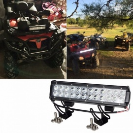 RACBOX 12 Inches 72W LED Work Light Bar with LED Chips Flood Spot Combo Beam for Offroad ATV SUV 4WD Boating Truck Tractor 3D light bar
