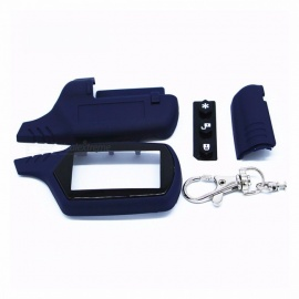 Starline A91 Key Shell Keychain Case for Russian Version Starline A91 lcd Remote Two-Way Car Alarm System Dark blue