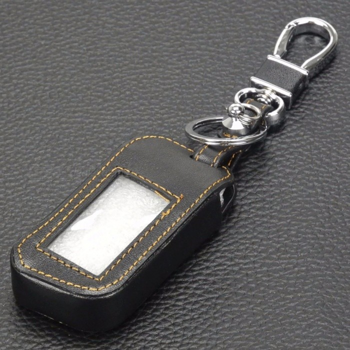 jingyuqin New A93 Leather LCD Keychain Key Cover Case for Starline A93 A63 Car Alarm Remote Controller (Not Included Keychain) Red ThreadKey Chains or Covers<br>Description<br><br><br><br><br>Material Type: Top Layer Leather <br><br><br>Brand Name: jingyuqin <br><br><br><br><br><br><br><br><br><br><br><br>Condition: 100% Brand New<br><br><br>Material:&amp;nbsp;Leatherette Leather<br><br><br>Color: Like the Picture show<br><br><br>Button:&amp;nbsp;3 Buttons<br><br><br>With Logo:&amp;nbsp;No <br><br><br><br><br><br><br><br>Features:<br><br><br>Protect the key from scratch&amp;nbsp;<br><br><br>100% brand new, exactly as pictured&amp;nbsp;<br><br><br>Key not included <br><br><br><br><br><br><br><br>Fitment:<br><br><br>For&amp;nbsp;Starline A93<br><br><br>And other models...<br><br><br>Please ensure your current original key looks exactly the same as the key cover&amp;nbsp;in the picture at below.<br><br><br><br><br><br><br>Important&amp;nbsp;Note:<br><br><br>The<br> image is of the real product. Not downloaded from internet. Please <br>compare your key shell, make sure your item is as same as our product <br>before you purchase.<br><br><br><br><br><br><br>Package Includes:<br><br><br>1 X Leatherette Key Cover (Not include remote keychain)<br>