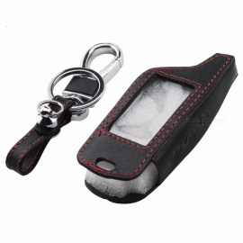 jingyuqin B9 Leather Key Case for Original Starline B9 / B91 / B6 / B61 / A91 / A61 / V7 C9 (Not Included Remote Keychain) Red Thread