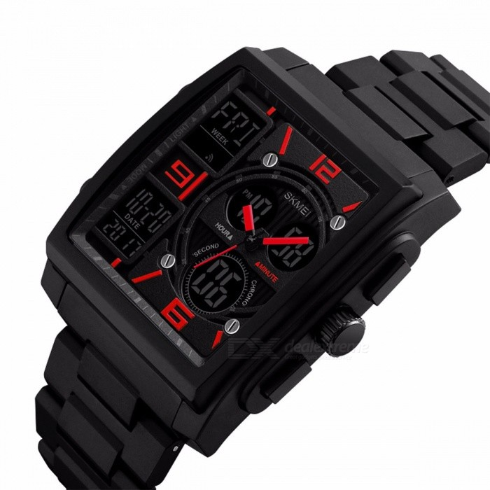 SKMEI Waterproof Men's Fashion Sport Watch, Chronograph Digital Wristwatch with Alarm, Count Down, EL Light