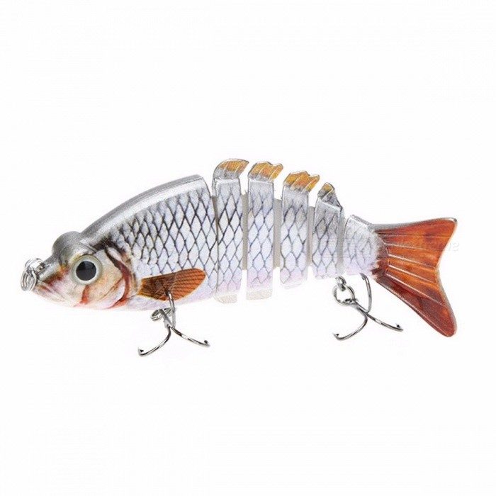 LIXADA 4 Inches Lifelike Artificial Fishing Lure Crankbait Hard Fishing Bait Swimbait Pesca Lures Fishing Tackle for Bass Pike