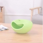 Urijk Creative Melon Seeds Nut Bowl Table Candy Snacks Dry Fruit Holder Storage Box Plate Dish Tray With Mobile Phone Stents Green