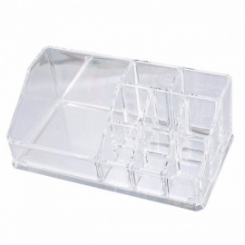 Urijk Plastic Storage Box Makeup Organizer for Jewelry Container Toiletry Organizer Cosmetic Storage Box Holder  17x9.4x6.7cm Clear
