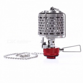 BULin Portable Gas Stove Burner Lightweight Gas Lantern Useful Lamp Stove Cookware for Outdoor Camping Hiking Fishing Picnic BBQ Grey