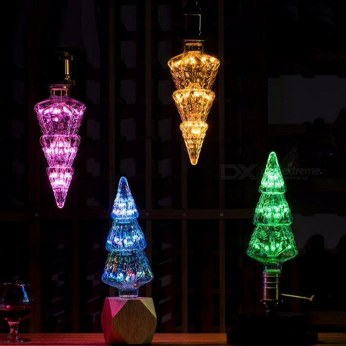 Led starry sky lamp christmas tree style decorative