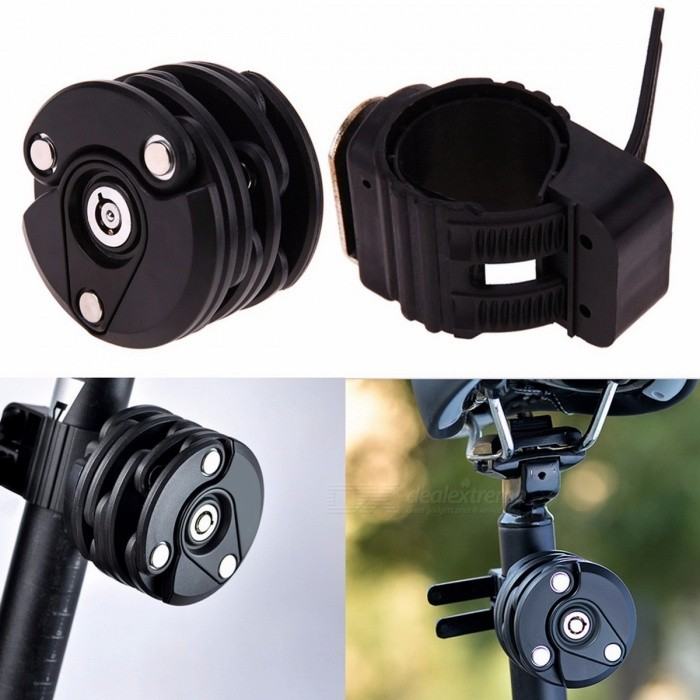 Anti Theft Bike Chain Lock Mini Folding Foldable Security Steel Cycling Hamburg Lock Bicycle Lock Bicycle Accessories BlackBike Accessories<br>DescriptionType: ChainBrand Name: ROBESBONMaterial: Other<br>