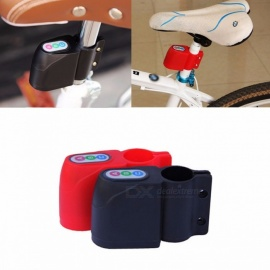Bike Anti-theft Alarm Lock Bicycle Motorbike Moped Cycling High Quality Security Lock with Loud Alarm Sound Red
