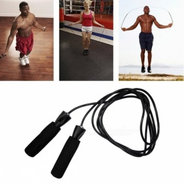 Adjustable Bearing Skipping Rope Cord Speed Fitness Aerobic Jumping Exercise Equipment Boxing Skipping Sport Jump Rope  Black