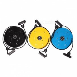 Fitness Equipment Waist Twister with Cord Pull Waist Wriggling Plate Plastic Magnetic Twist Massage Board Yellow