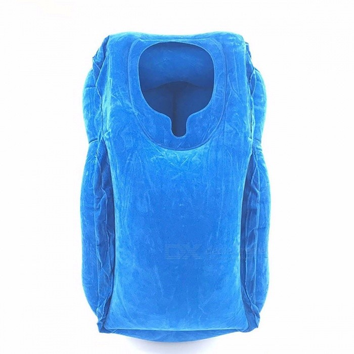 Portable Soft Air Inflatable Travel Pillow PVC Flocking Head Neck Rest Support Cushion For Neck Body Sleeping Chin Head Support