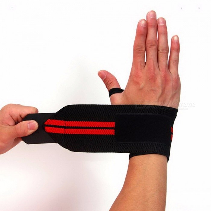 Stylish High Quality Sports Wrist Wrap Bandage Hand Support Wristband Protector Sweatband Gym Strap Fitness Brace QJ0631/QJ0631BYWrist Supports<br>DescriptionBrand Name: AolikesApplicable People: Universal<br>