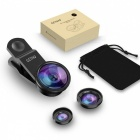 Fish Eye Phone Camera Lens, Angel Macro Zoom Mobile Phones Smartphone Fisheye Lenses for IPHONE 5 6 7 8 Silver