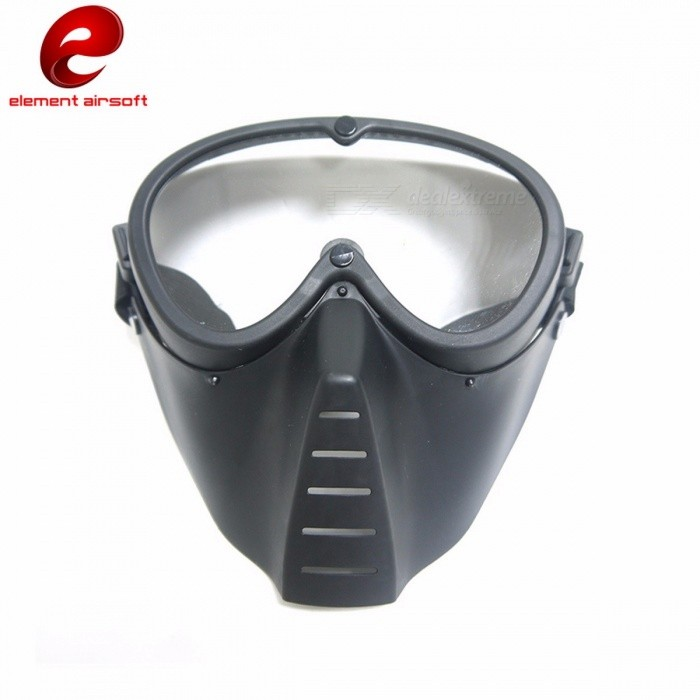 CY292 Anti-Fog Ventilated Paintball Mask, Full Face Electric Fan Airsoft Mask with Goggle for Outdoors CS War Game Hunting