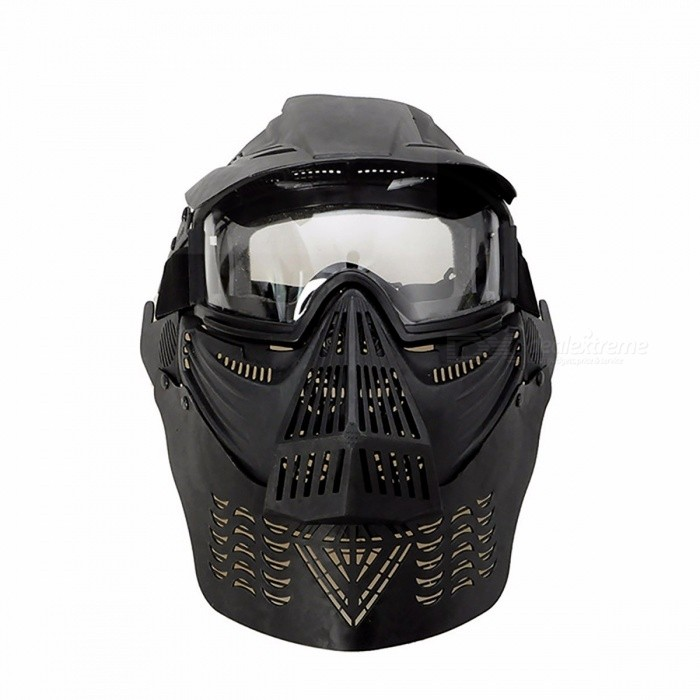 WoSporT Premium Durable Military Full Face Paintball Mask, Army Tactical War Game Protection Face Mask Goggles BKMasks<br>Description<br><br><br><br><br>Brand Name: WoSporT <br><br><br>Type: Other <br><br><br><br><br><br><br><br><br><br><br><br>Features:<br><br><br><br>Made by high quality durable pliable ABS material <br><br><br>Crystal goggles strong enough to protect shots airsoft gun <br><br><br>Full face and neck protection <br><br><br>Adjustable elastic strap can fit all size head <br><br><br>Good ventilation makes it no fog <br><br><br>Each part canbe easily detached <br><br><br><br>Specifications:<br><br><br><br>Net Weight: 267g <br><br><br>Material: ABS<br>