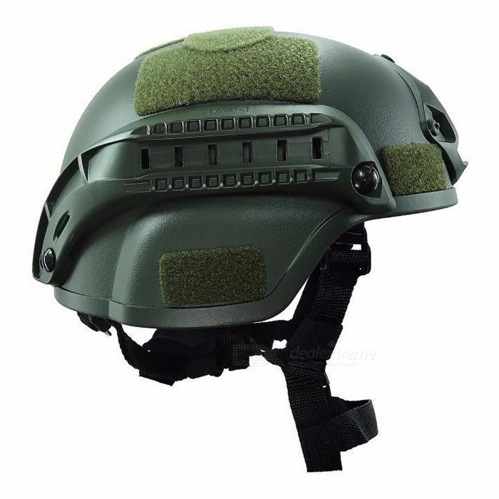 Tactical Airsoft Hunting Gear, MICH2000 Action Version Military Force Safety Helmet, Motorcycle CS Paintball Helmet One Size/GreenHelmets<br>Description<br><br><br><br><br>Type: Helmet <br><br><br>Age: &14 Years <br><br><br><br><br>Season: Universal <br><br><br>Sport: Other <br><br><br><br><br>Style: Half-covered <br><br><br>Applicable People: Men <br><br><br><br><br>Material: ABS <br><br><br>Brand Name: OBAOLAY <br><br><br><br><br>Head Circumference: Other <br><br><br><br><br><br><br><br><br><br><br><br><br>Item:Tactical Helemt<br><br><br>Material:ABS<br><br><br>Weight:820g<br><br><br>Color:black,green,sand<br><br><br>&amp;nbsp;<br><br><br>USMC type special force helmet.<br><br><br>Made of ABS plastic material.<br><br><br>Metal mount at front of the helmet for night vision goggle (NVG).<br><br><br>Suitable for NVG AN/PVS 7 or 14 goggle attachment.<br><br><br>Sponge cushion padding inside.<br><br><br>Adjustable suspender straps and chin/neck pad for fitting.<br><br><br>Suitable for outdoor war game activities.<br><br>Perfect helmet for airsoft/paintball players<br>