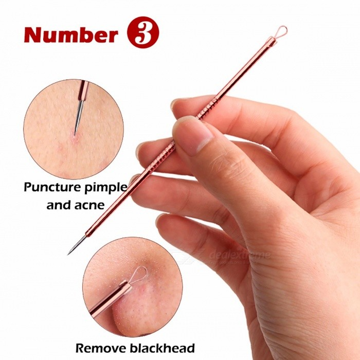 4pcs Acne Removal Needle Acne Pimples Blackhead And Comedone Extractor Remover Rose Gold Acne Needle Treatment