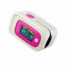 Fingertip Blood Oxygen Pulse Oximeter w/ Sound Alarm, SPO2 PR PI ODI4 Data Analysis, Memory Recall 8 Hours, Sleep Monitoring Pink