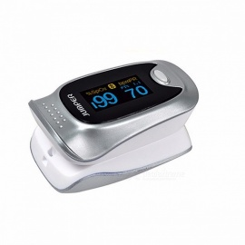 Mini Bluetooth V4.0 Blood Oxygen Saturation Finger Pulse Oximeter with Color OLED Display for Health Care Silver