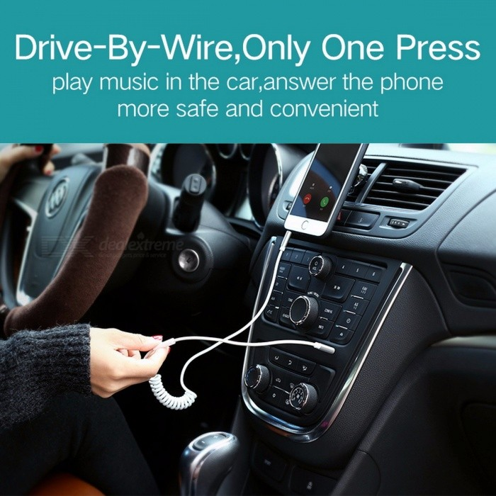 Ugreen Jack 3.5mm Male to Male 3.5mm Jack Coiled Stereo Audio Cable, Aux Cord for IPHONE Car Headset Speaker Player