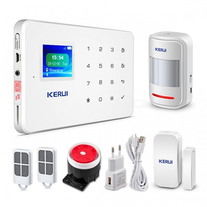 Kerui Wireless High-performance Portable Remote Control 4 Buttons Keychain For Wifi Gsm Pstn Home Security Alarm System Security Alarm Alarm Remote Controller
