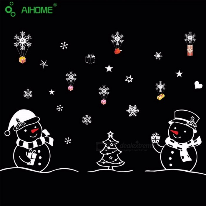 Christmas Festival Wall Sticker Snowman Showcase Stickers Merry Christmas Happy New Year DIY Glass Window Stickers MultiWall Sticker <br>DescriptionStyle: EuropePattern: Mirror Surface Wall StickerTheme: FestivalClassification: For Wall,Window StickersScenarios: Glass/BathroomSpecification: Single-piece PackageBrand Name: AIHOMEMaterial: Other<br>