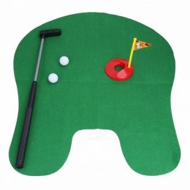 Toilet Golf Game Potty Putter Mini Golf Set Toilet Golf Putting Green Novelty Game Toy Gift for Men and Women Green