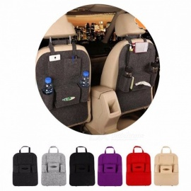 Auto Car Seat Cover Organizer Holder Back Seat Storage Bag Bottle Tissue Box Magazine Cup Food Phone Bag Backseat Organizer Dark Grey