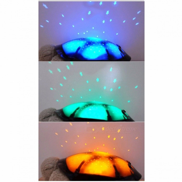 ST029 Creative Turtle LED Night Light Luminous Plush Toy, Music Star Projector Lamp Toy for Baby Sleep