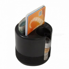 Car Auto Universal Storage Box Organizer Holder Cup Plastic Seat Pocket Coin Cards Slot Container Stowing Tidying Accessories Black