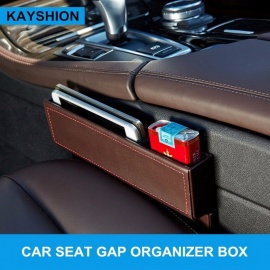 Многоцелевой автомобиль Seat Crevice Storage Box Кожаная сумка Auto Gap Organizer Carrying Pocket Car Seat Gap Storage Box black