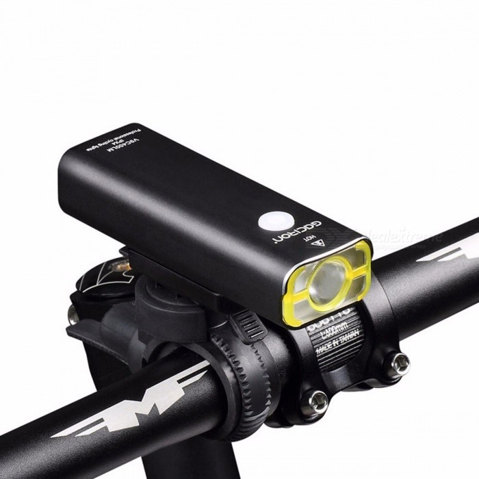 GACIRON Cycling Waterproof LED Headlight USB Rechargeable 400 Lumens Handlebar Front Light Lamp Bicycle Accessories
