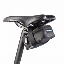 ROSWHEEL Portable Fixed Gear Road Bike Bicycle MTB Saddle Back Seat Seatpost Package Bag, Cycling Tail Pouch black