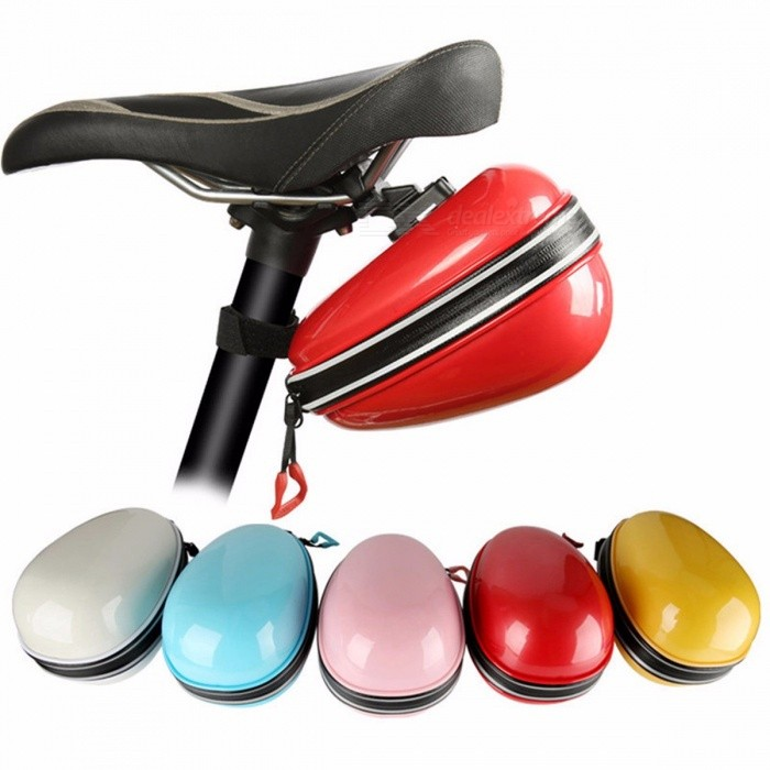 WEST BIKING Waterproof ABS Bike Saddle Bag, Cycling Rear Storage Box, Rainproof Bicycle Back Seat Seatpost Bag redBike Bags<br>DescriptionFunction: RainproofBrand Name: West Bikingis_customized: YesMaterial: Polyster<br>