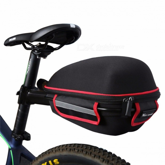 WEST BIKING Waterproof Bicycle Rear Bag with Rain Cover, Portable Cycling Tail Extending Bike Saddle Bag  orangeBike Bags<br>DescriptionFunction: RainproofBrand Name: West Bikingis_customized: YesMaterial: Polyster<br>