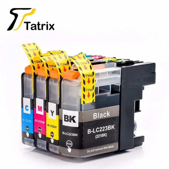 LC223 LC221 Compatible Ink Cartridge For Brother MFC-J4420DW/J4620DW/J4625DWJ480DW/J680DW/J880DW Printer (With Chip 12Pcs)